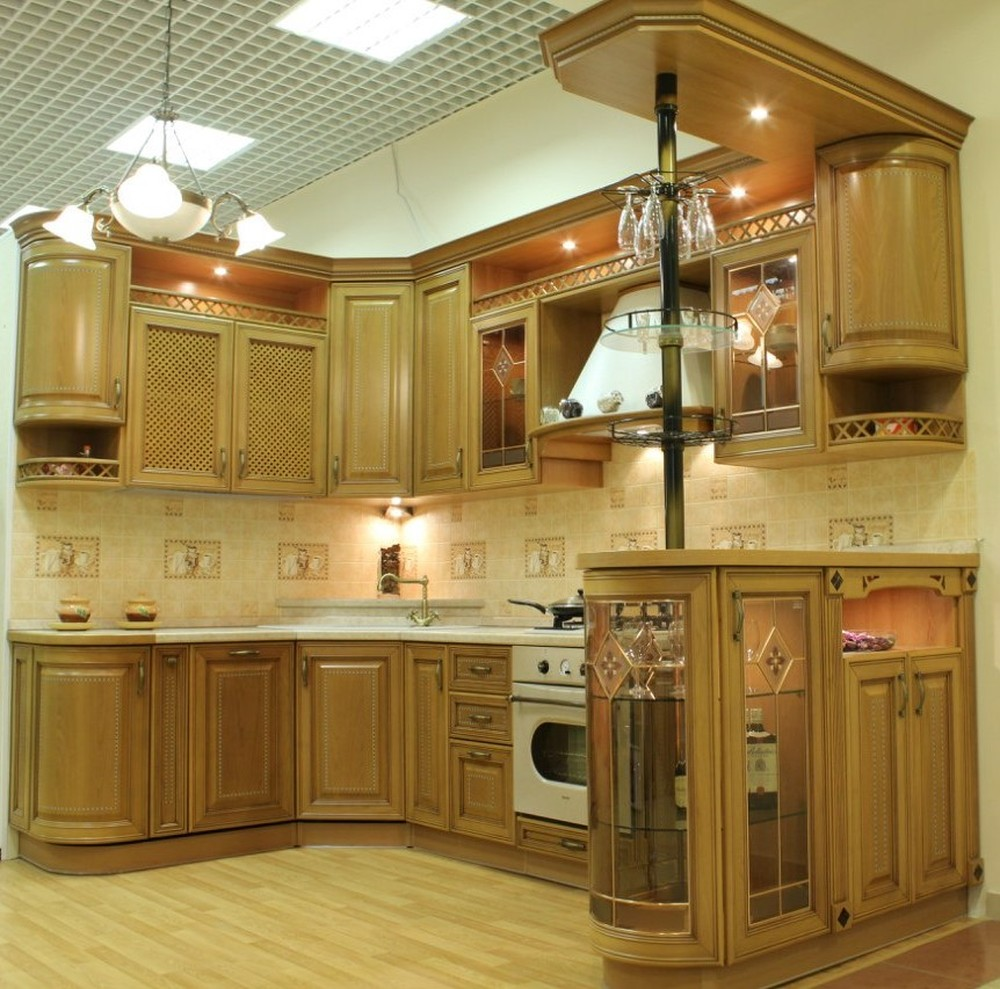 Дорогие и элитные кухни-Кухня из массива «Модель 127»-фото5