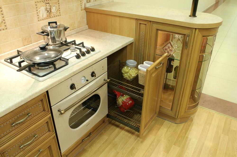 Дорогие и элитные кухни-Кухня из массива «Модель 127»-фото12
