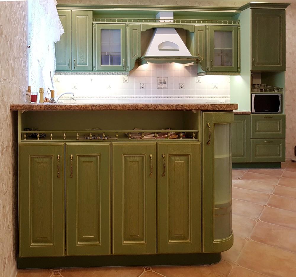 Дорогие и элитные кухни-Кухня из массива «Модель 23»-фото1