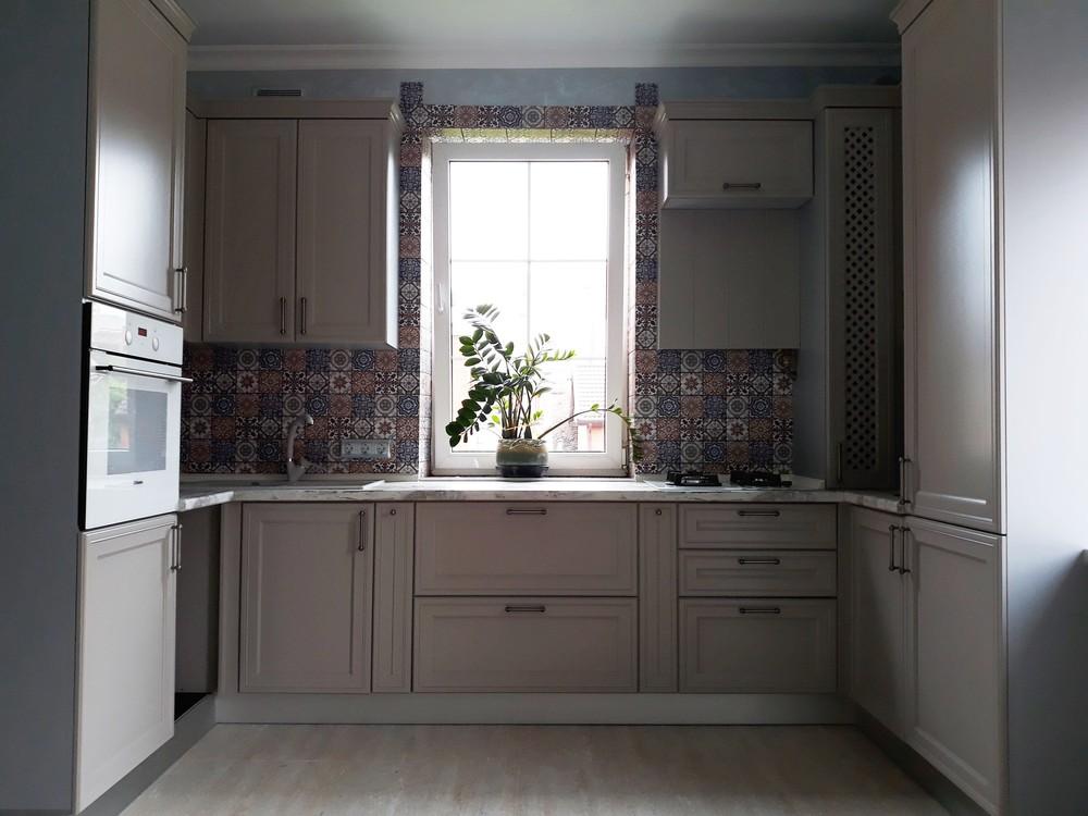 Бежевые кухни-Кухня МДФ в эмали «Модель 283»-фото1