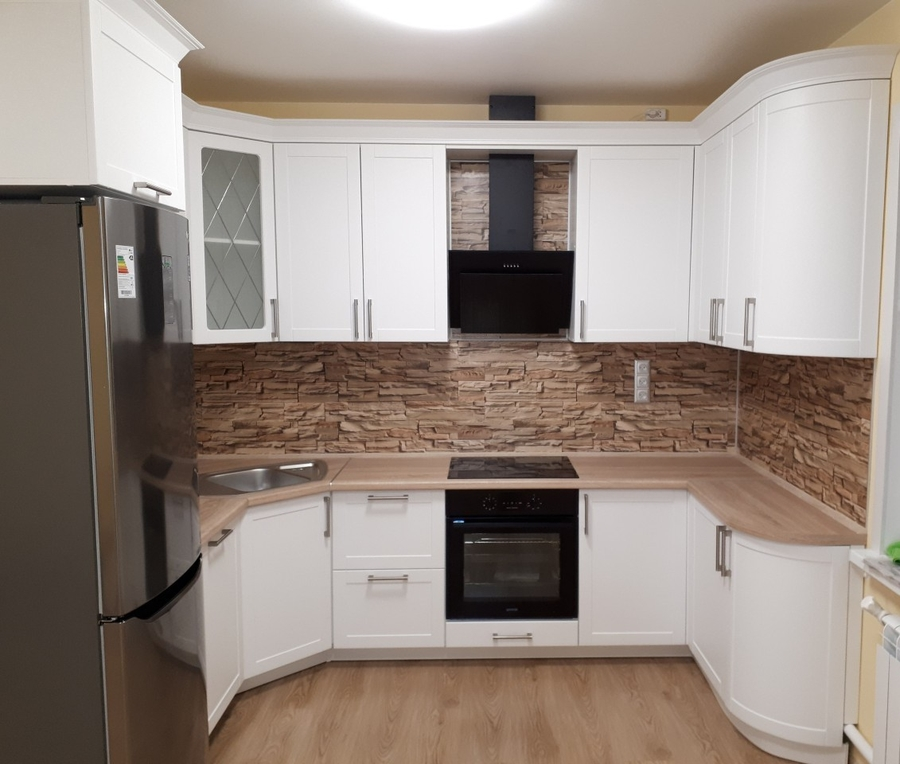 Белый кухонный гарнитур-Кухня «Модель 494»-фото1