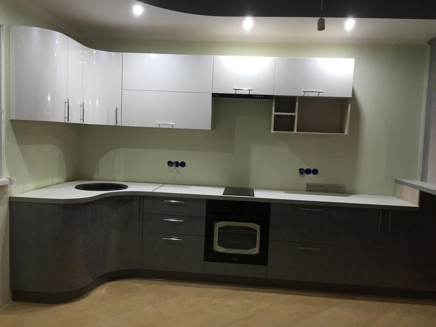 Белый кухонный гарнитур-Кухня «Модель 507»-фото2