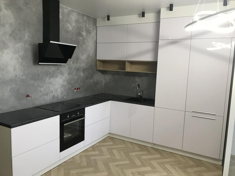 Белый кухонный гарнитур-Кухня МДФ в ПВХ «Модель 550»-фото2
