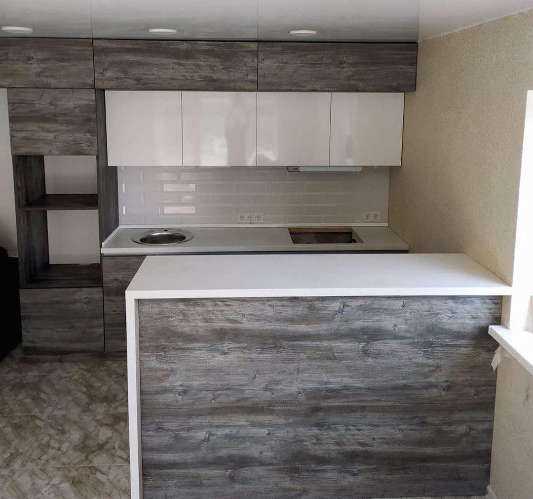 Встроенная кухня-Кухня из ЛДСП «Модель 617»-фото2