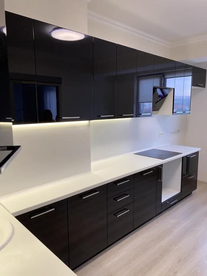 Глянцевые кухни-Кухня МДФ в ПВХ «Модель 569»-фото2