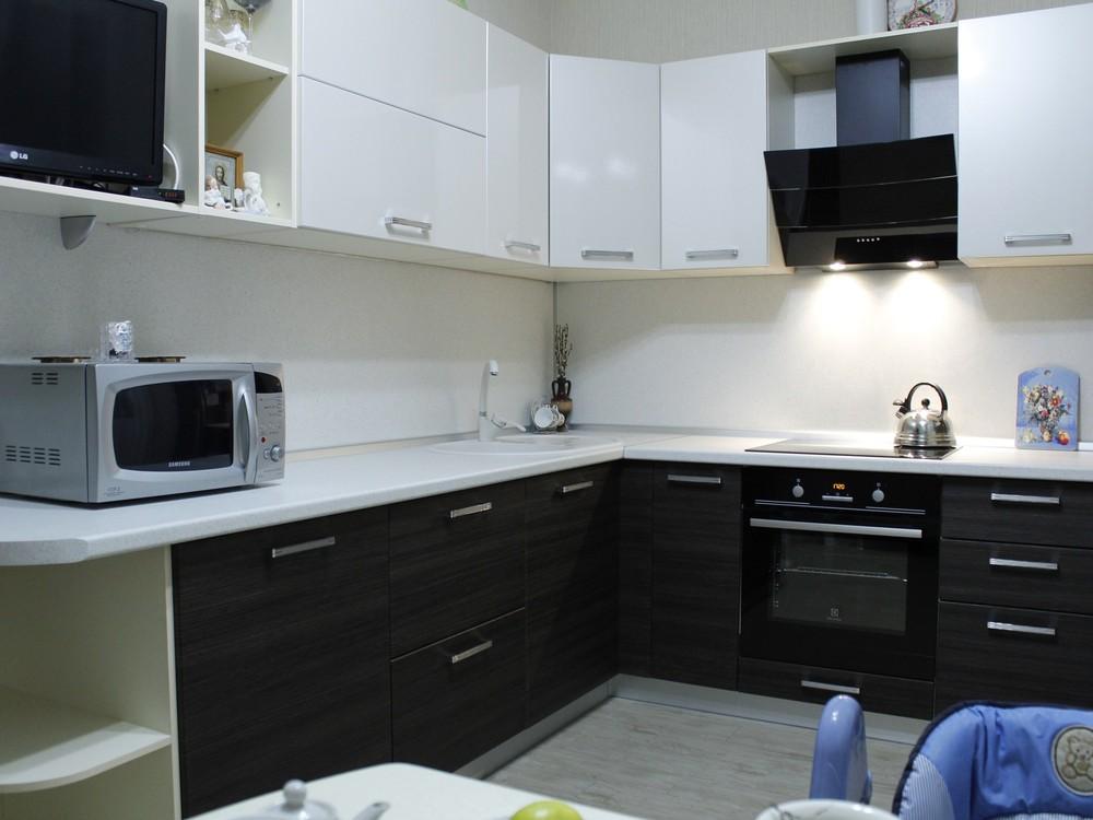 Встроенная кухня-Кухня из ЛДСП «Модель 186»-фото1