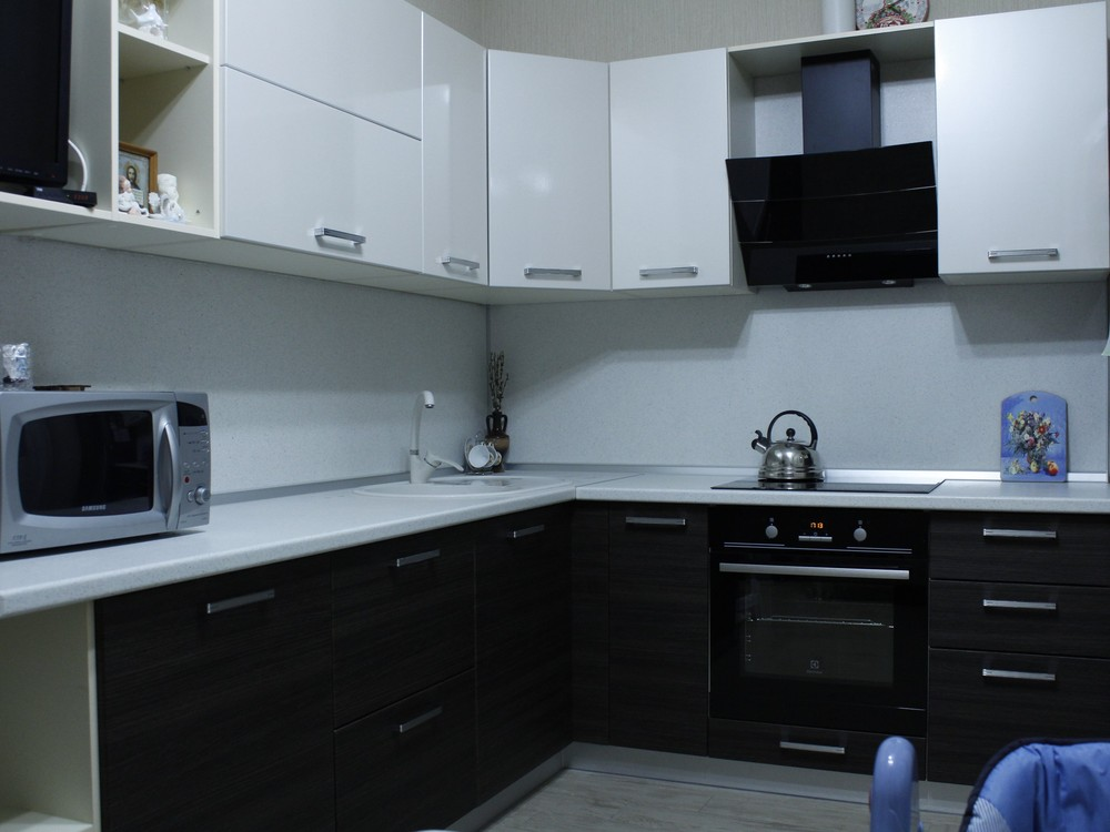 Встроенная кухня-Кухня из ЛДСП «Модель 186»-фото3