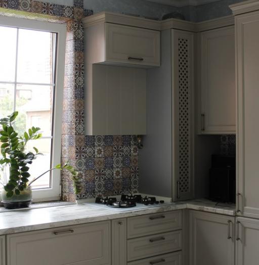 Бежевые кухни-Кухня МДФ в эмали «Модель 283»-фото8